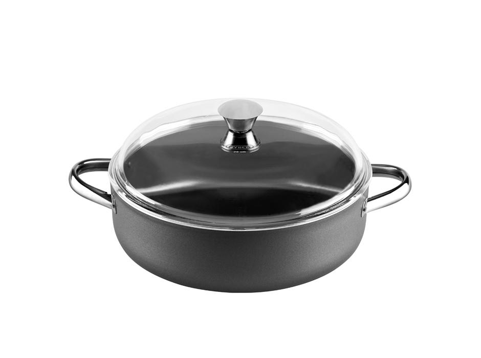 1fest magic semi deep casserole with glass